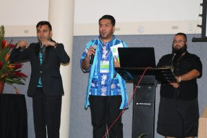Fiji Association of the Deaf president at the WASLI conference