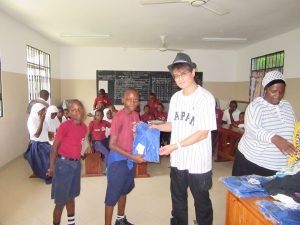 Mr. Toshiomi Tsuzuki a Deaf Japanese visited Tanzania and had an opportunity to visit school for the Deaf. The picture above he is presenting gifts for Deaf learners at Twig Integrated Unit for the Deaf in Dar es salaam