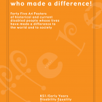 "Cover for the publication entitled ""Disabled People who made a difference!"""