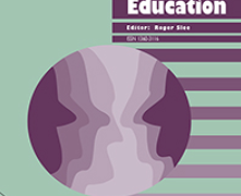 The cover of an issue of the International Journal of Inclusive Education. Below the title is an abstract drawing of two faces facing each other.