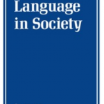 "Cover of an issue of the academic journal entitled ""Language in Society"""