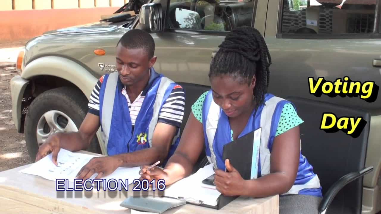 Screen shot of deaf vote education video produced by Ghana National Association of the Deaf.