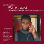 Deaf woman entrepreneur: Susan in Zambia Phone Center