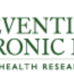 "The logo for the Centers for Disease Control and prevention (CDC) in the United States is at the left. At right is the name of the journal ""Preventing Chronic Disease"" with its slogan, ""Public Health Research, Practice, and Policy""."