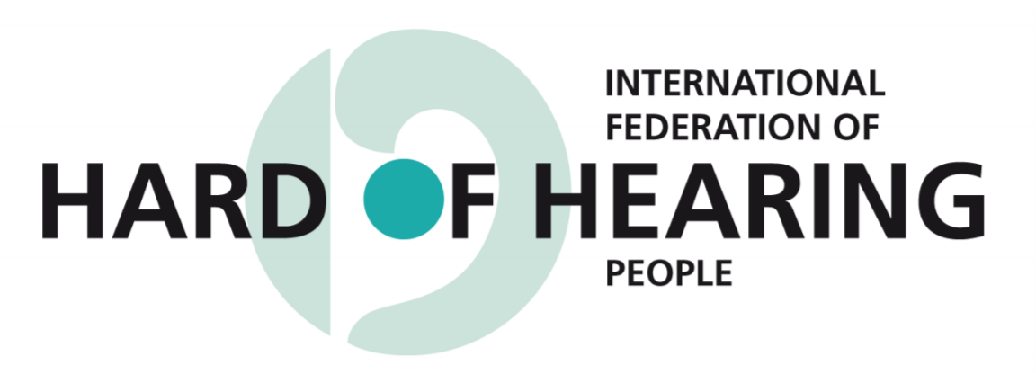Logo for the International Federation of Hard of Hearing People