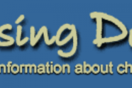 """This banner for the web site """"Raising Deaf Kids"""" shows an abstract drawing of two parents with their arms around two young children and a baby. Below the name of the web site is the motto, """"A world of information about children with hearing loss."""""""