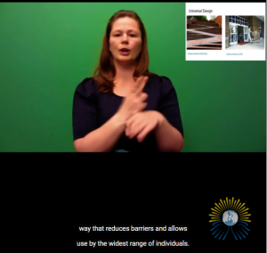 Screenshot from video shows Dr. Christina Yuknis explaining what is universal design for learning.