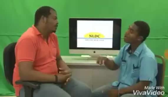 Screen shot from a video in which Broad Street Media interviews Lionel Smith